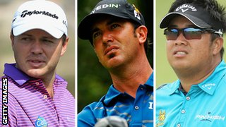 Richard Sterne, Scott Piercy and Kiradech Aphibarnrat,