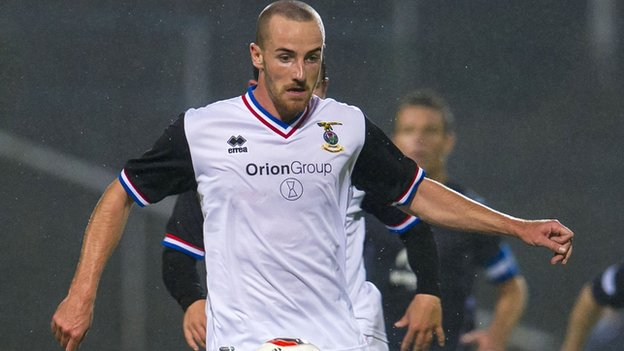 Inverness midfielder James Vincent