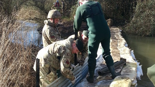 Reservists from The Rifles at Burghfield Lakes