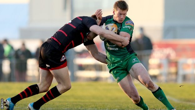 Dougie Fife tackles Eoin Griffin at the Sportsground