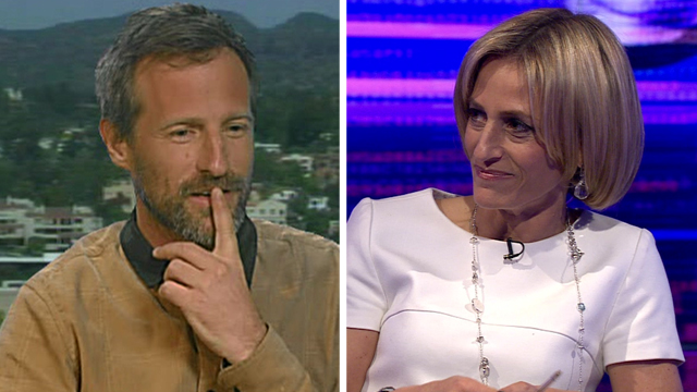 Film director Spike Jonze and Newsnight presenter Emily Maitlis