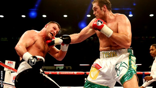 Tyson Fury beats Joey Abell