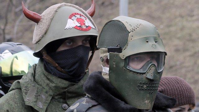 Opposition protestors in Kiev, Ukraine
