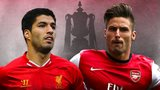 Luis Suarez and Olivier Giroud