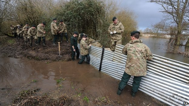 A further 5,000 troops are available to help flood-stricken communities