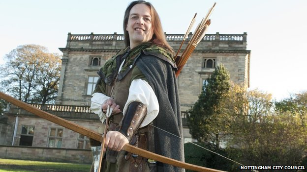 Tim Pollard is Nottingham's official Robin Hood