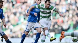 Anthony Stokes scores for Celtic against St Johnstone