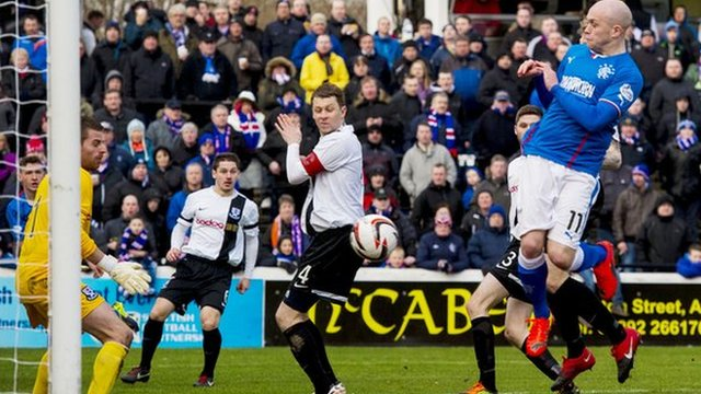 Nicky Law scores for Rangers against Ayr United