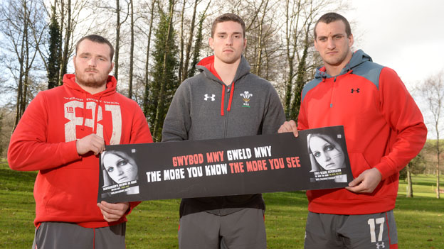 Ken Owens, George North and Sam Warburton