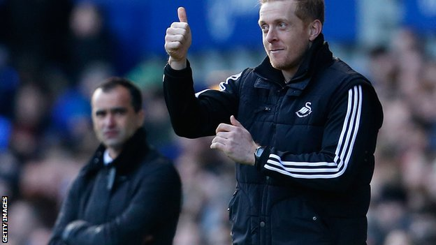 Roberto Martinez and Garry Monk