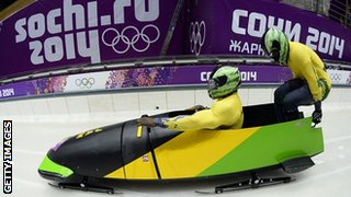 Jamaica-1 two-man bobsleigh steered by Winston Watts