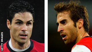 Mikel Arteta and Mathieu Flamini