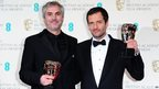 Alfonso Cuaron and David Heyman with the Best British Film Award for Gravity