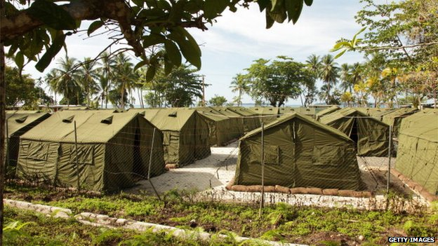 File photo: facilities at the Manus Island Regional Processing Facility, used for the detention of asylum seekers that arrive by boat, primarily to Christmas Island off the Australian mainland, on Manus Island, Papua New Guinea. 16 October 2012