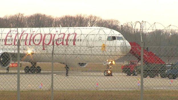 News grab of hijacked Ethiopian plane