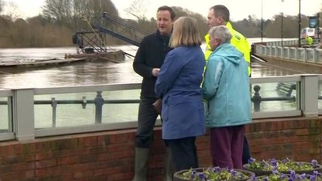 David Cameron visits Upton upon Severn