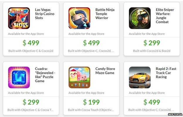 Apptopia games templates