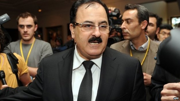 Gen Salim Idris at a Syrian opposition meeting in Istanbul in April 2013