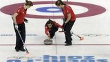 Eve Muirhead delivers a stone for Team GB in Sochi
