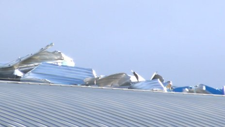 IWM damaged roof