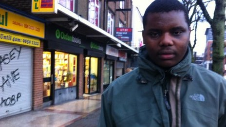 Stanley Phiri on a Belfast street