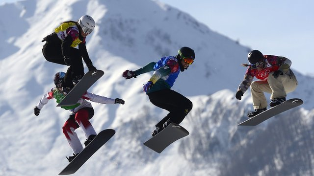 Snowboard cross at Sochi 2014