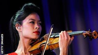 Recording artist Vanessa-Mae performs