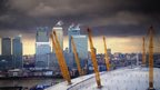 Dark stormy sky over Canary Wharf. Photo: Lynda Wilks
