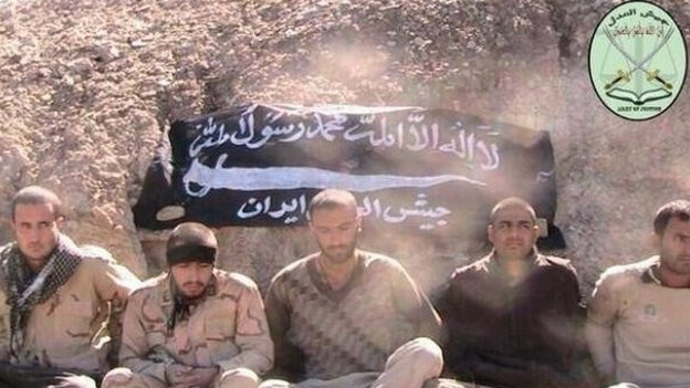 Online photo purportedly showing captured Iranian border guards