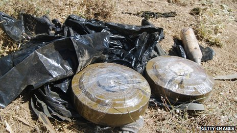 file pic of landmines in Iraq (2010)