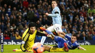 Stevan Jovetic scores against Chelsea