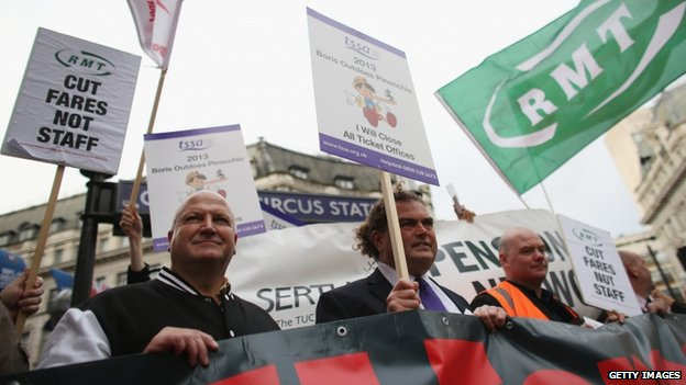 Bob Crow's RMT have campaigned against ticket closures