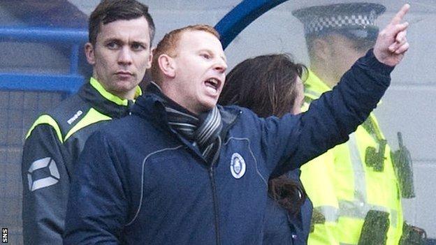 Stranraer manager Stephen Aitken