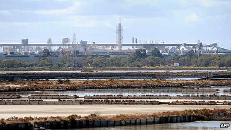 Alcoa aluminium plant at Point Henry, near the regional city of Geelong in Victoria.