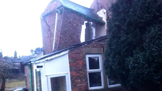 House damaged by appearance of sinkhole in Ripon