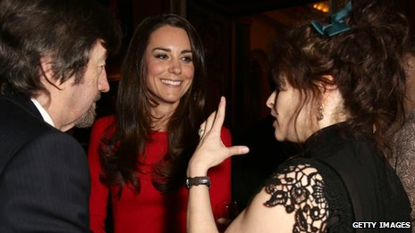 Trevor Nunn, the Duchess of Cambridge and Helena Bonham Carter