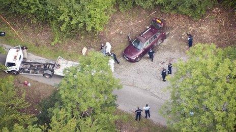 Scene of Saad al-Hilli's murder