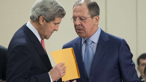 John Kerry and Sergey Lavrov, April 2013