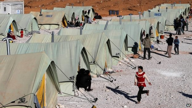 Syrian refugee camp in Lebanon