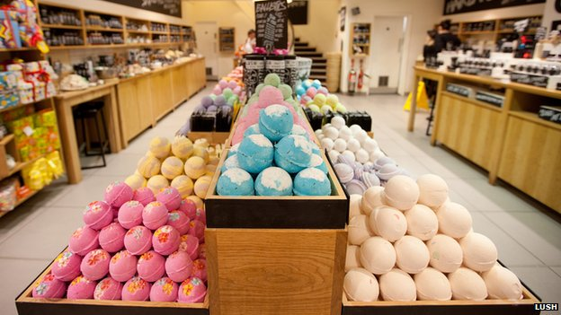 Lush store display in Regent Street