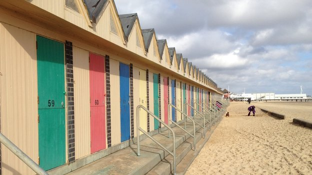 Lowestoft beach huts