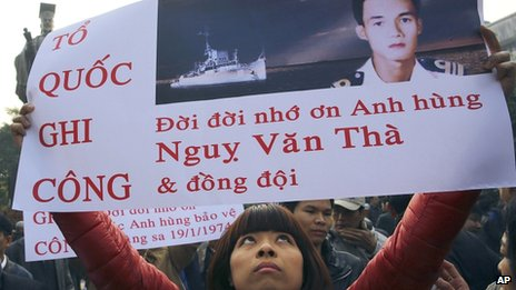 Protester in Vietnam marks 40th anniversary of conflict with China