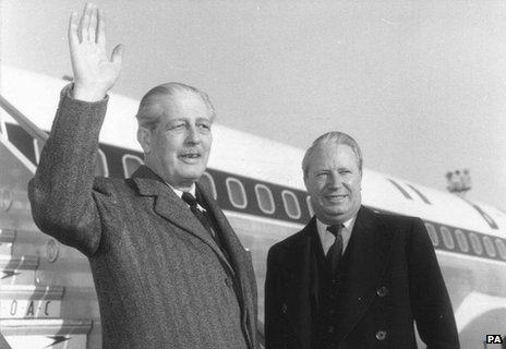 Harold Macmillan and Edward Heath