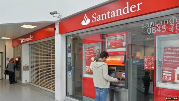 Surrey Quays branch of Santander Bank