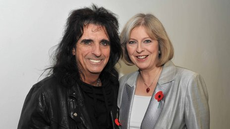 Alice Cooper and Theresa May