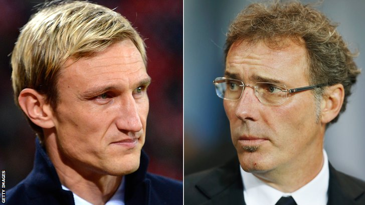 Sami Hyypia and Laurent Blanc