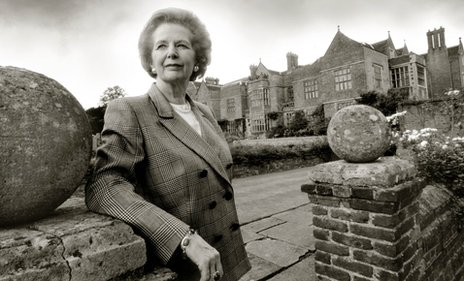 Margaret Thatcher at Checkers