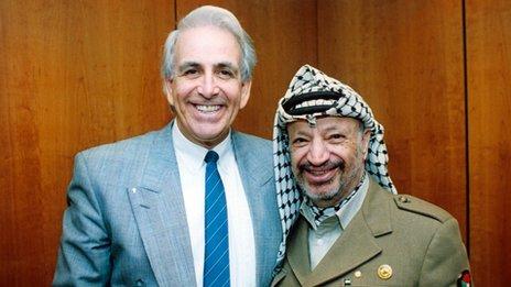 Don Maclean and Yasser Arafat