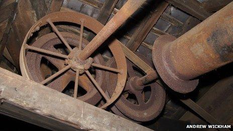 Machinery inside the Kimberley Brewery