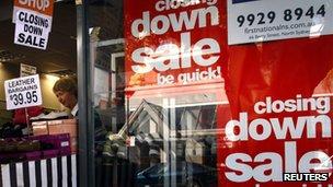 A closing down sale in Sydney